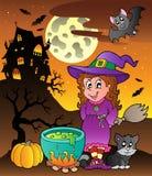 Scène met thema 3 van Halloween Royalty-vrije Stock Afbeelding