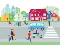 Scène urbaine de rue Photo libre de droits