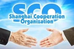 SCO, l'organizzazione di cooperazione di Shanghai Alleanza economica di alcuni paesi dell'Asia fotografia stock