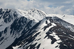 Scoarta Peak. Trip in Fagaras Mountains, in may Royalty Free Stock Photos