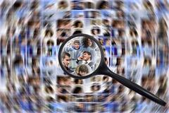 Scocial Sucher der Media Stockfotografie