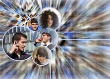 Scocial verbindend de mensenconcept van media Royalty-vrije Stock Afbeeldingen