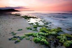 Scogli al Traomnto. A shot of the beach reef in Torre Canne, Fasano, Italy. Shot with a Gradual ND8, Polarizer stock photography