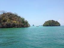 Scogliera al Railay in Krabi Tailandia Fotografia Stock