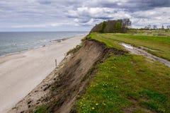 Scogliera del Mar Baltico fotografie stock libere da diritti