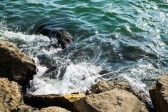 Scogliera del mare Immagini Stock Libere da Diritti