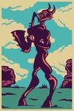 Scogliera del sax di jazz Immagini Stock