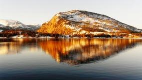 Scogliera dell'alta montagna Fotografia Stock