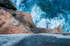 Scogliera dell'arenaria della roccia Fotografia Stock Libera da Diritti