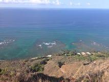 Scogliera dell'oceano Fotografia Stock
