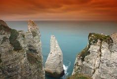 Scogliera della Normandia Fotografia Stock Libera da Diritti