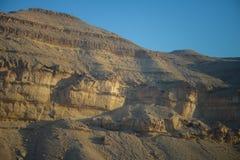 Scogliera delle montagne di Negev fotografia stock
