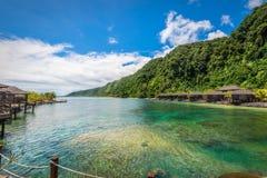 Scogliera di Aga, Samoa Immagine Stock
