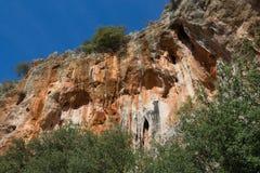 Scogliera di arrampicata in Geyikbayiri, Turchia fotografia stock libera da diritti
