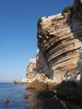 Scogliera di Bonifacio, Corsica, Francia Immagini Stock