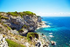 Scogliera di Bonifacio, Corsica, Francia Fotografie Stock