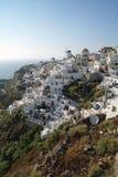 Scogliera di Oia, Santorini Fotografia Stock