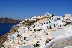 Scogliera di Santorini Oia Fotografie Stock Libere da Diritti