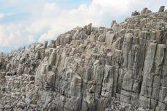 Scogliera di Tojinbo, rocce di Byobu Immagini Stock
