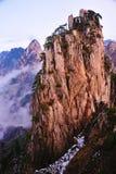 Scogliera (gialla) della montagna di Huangshan immagine stock libera da diritti
