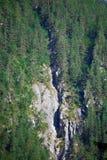 Scogliera incrinata in alpi slovene immagini stock