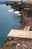 Scogliera irregolare delle Hawai Fotografia Stock Libera da Diritti