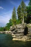 Scogliera nel lago Mitchigan Fotografia Stock Libera da Diritti