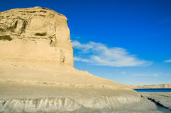 Scogliera nel Patagonia. Fotografia Stock Libera da Diritti