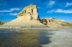 Scogliera nel Patagonia. Fotografie Stock Libere da Diritti