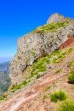 Scogliera rocciosa alta in montagne del Madera Fotografie Stock