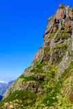 Scogliera rocciosa alta in montagne del Madera Fotografie Stock Libere da Diritti