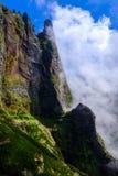 Scogliera rocciosa alta in montagne del Madera Fotografia Stock Libera da Diritti