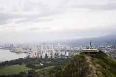 Scogliera sopra Waikiki Fotografie Stock Libere da Diritti