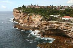 Scogliera a Sydney Australia Fotografia Stock