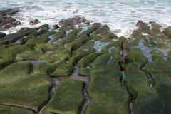 Scogliera verde di Laomei Fotografia Stock Libera da Diritti