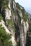Scogliera verticale della montagna Immagine Stock