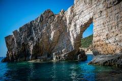 Scogliera in Zacinto, Grecia Fotografie Stock Libere da Diritti