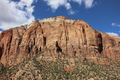 Scogliera in Zion National Park Fotografia Stock