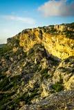 Scogliere al costo di Malta Fotografie Stock Libere da Diritti