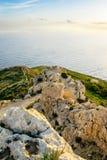 Scogliere al costo di Malta Fotografia Stock