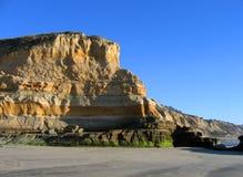Scogliere alla spiaggia di condizione dei pini di Torrey, La Jolla, California Immagini Stock Libere da Diritti