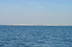 Scogliere bianche in mare Immagine Stock