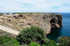 Scogliere a capo St Vincent, Portogallo Immagine Stock