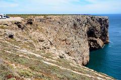 Scogliere che trascurano l'oceano, capo St Vincent, Portogallo Immagine Stock Libera da Diritti