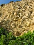 Scogliere costiere di arenaria gialla Immagine Stock Libera da Diritti