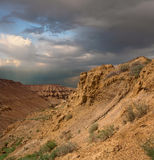 Scogliere del deserto a Ustyurt Immagini Stock Libere da Diritti