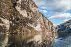 Scogliere del Geirangerfjord Immagine Stock
