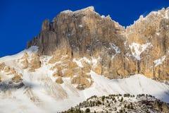 Scogliere del massiccio di Devoluy nell'inverno Alpi francesi, Francia Fotografia Stock Libera da Diritti