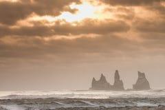 Scogliere dell'Islanda Fotografia Stock Libera da Diritti