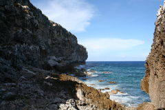 Scogliere dell'isola di Brac del caimano Fotografia Stock